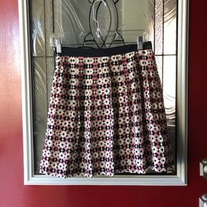 J. Crew Silk Diamond Tile Skirt